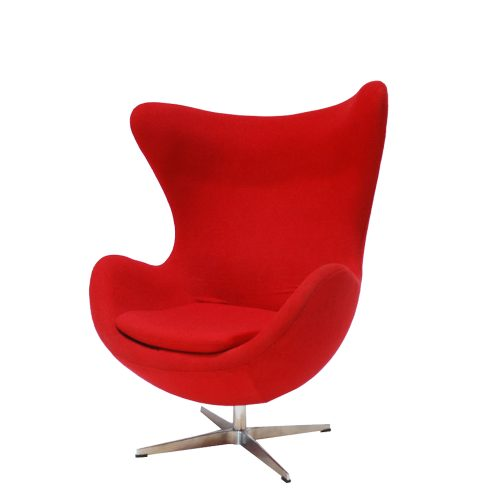 Chair Egg Red Swivel