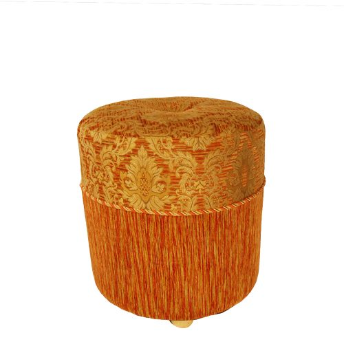 Ottoman Round Moroccan Orange