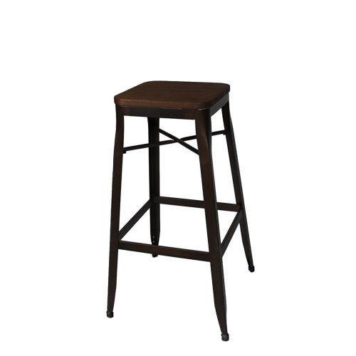 Stool Backless with Wood Seat