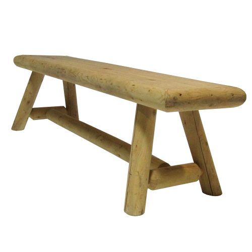 Bench Dining Rounded Pine