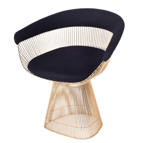 Chair Planter Black & Gold