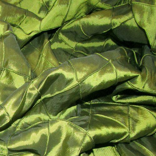 Green Pintuck FR Drape
