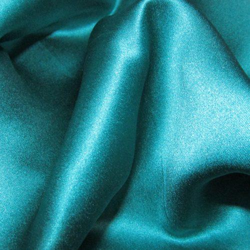 Turquoise Satin FR Drape