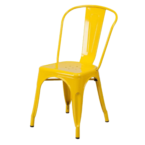 Metal Yellow Chair