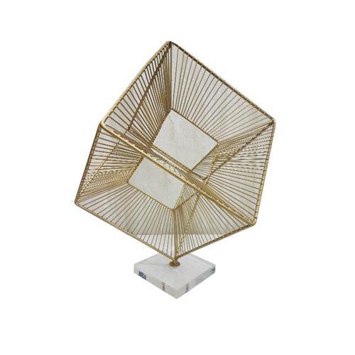Radiant cube - Gold