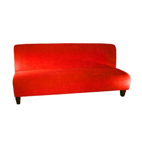 Sofa-Standard-Red-Fabric-7'Lx35''Hx30''D
