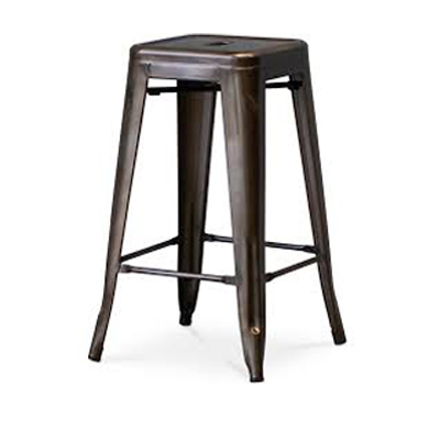 Tolix Bar Stool - Metal - Good