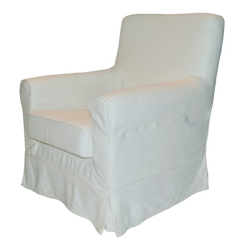 Arm Chair with White Cover
