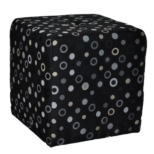 Heather Black & Grey Dot Fabric Tuft