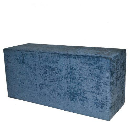 Modular Blue Crushed Bench