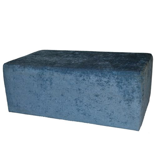 Modular Blue Crushed Ottoman 44x27x16