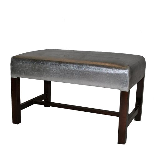 Silver Bench With Wooden Legs