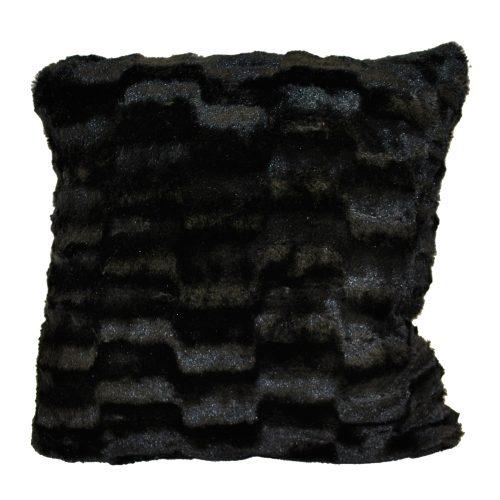 Black Faux Fur Checkered Texture