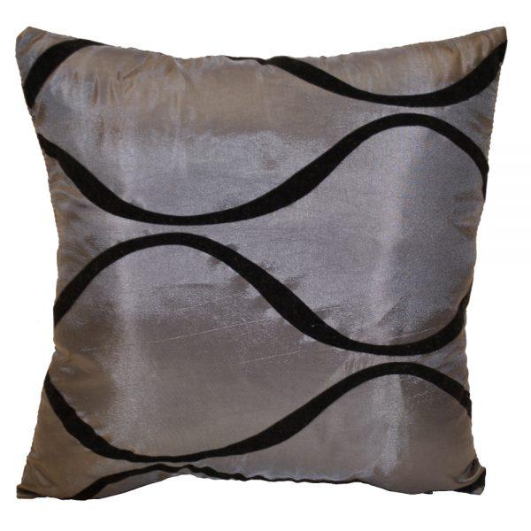 Silver with Black Velvet Waves