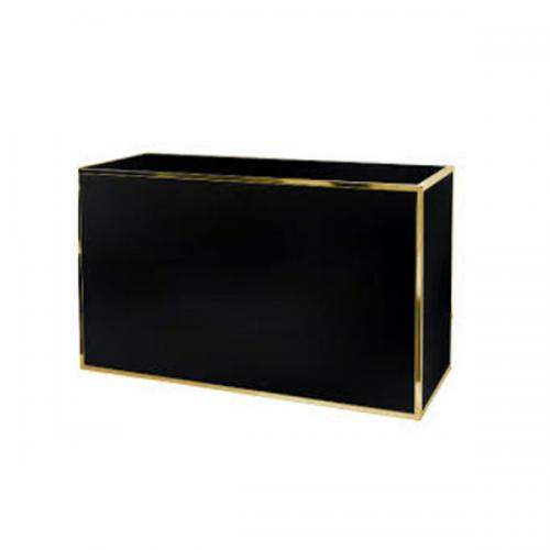 gold bar with black plexi