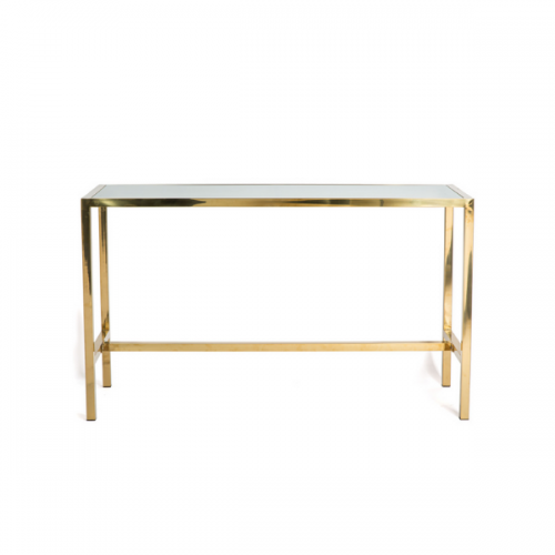 gold communal table - bar height